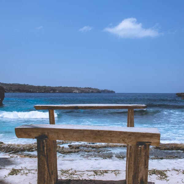 Two Benches on a beach